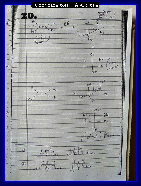 Alkadiens Notes chemistry