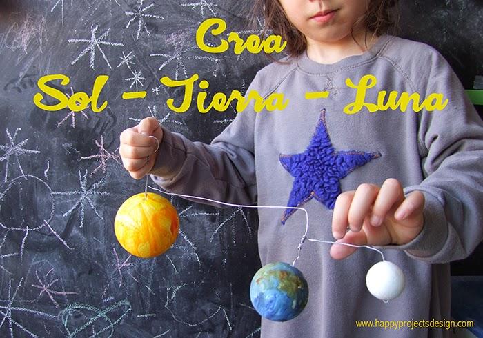 Astronomía para niños: manualidad sol, luna y tierra