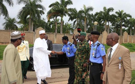 Photos: President Muhammadu Buhari jets off to Chad for president Idriss' inauguration ceremony