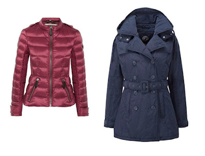 Розовая и синяя куртки