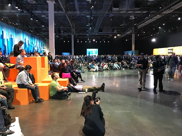 Shawn Woodward AWS re:Invent 2017 Overflow room watching keynote