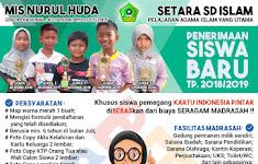 Brosur PSB MI, MTS, dan Pesantren Nurul Huda Tandun Rohul 2018