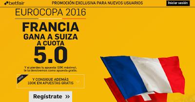 betfair Francia gana Suiza supercuota 5 Eurocopa 2016 19 junio