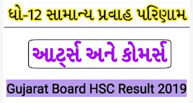 Gujarat 12th Result 2019