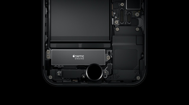 The new tap tic engine pressure touch sensitive home button on the iPhone 7/ 7 Plus requires skin contact to work otherwise it won't work without skin contact or touch
