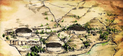Concept sketch of Baisha, showing Tulou