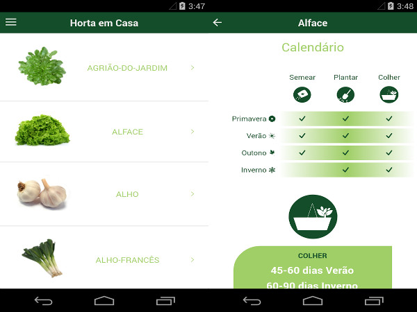Aplicación para móviles gratuita de cultivo de huerta ecológica
