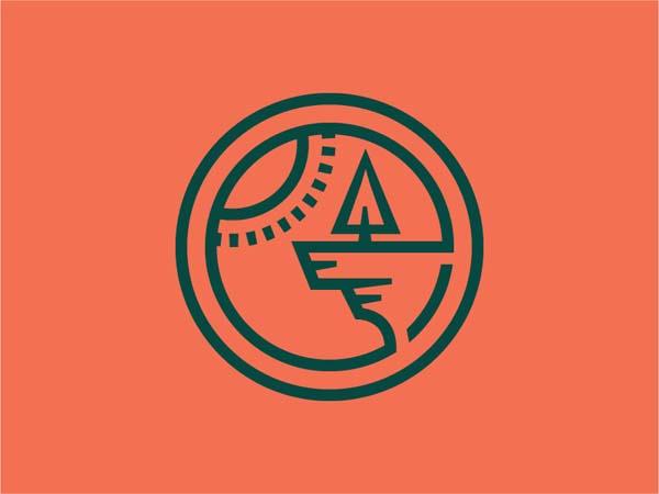 Inspirasi Desain Logo Monoline 2017 - Cliffhanger Monoline Logo