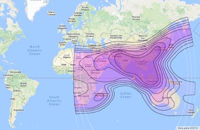 Satelit Measat 3 91.5°E CBand