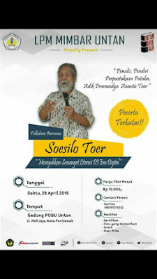Universitas Tanjungpura mengundang Soesilo Toer Ke Pontianak