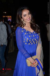 Telugu Actress Tejaswi Madivada Pos in Blue Long Dress at Nanna Nenu Na Boyfriends Audio Launch  0088.JPG