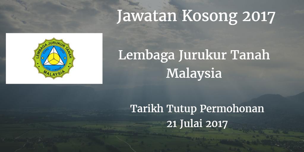 Jawatan Kosong Lembaga Jurukur Tanah Malaysia 21 Julai 2017