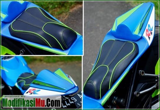 Jok SIngle Seater Tanpa Boncengan - Modifikasi Suzuki Satria FU 150 ala Moto GP Sederhana Tapi Keren