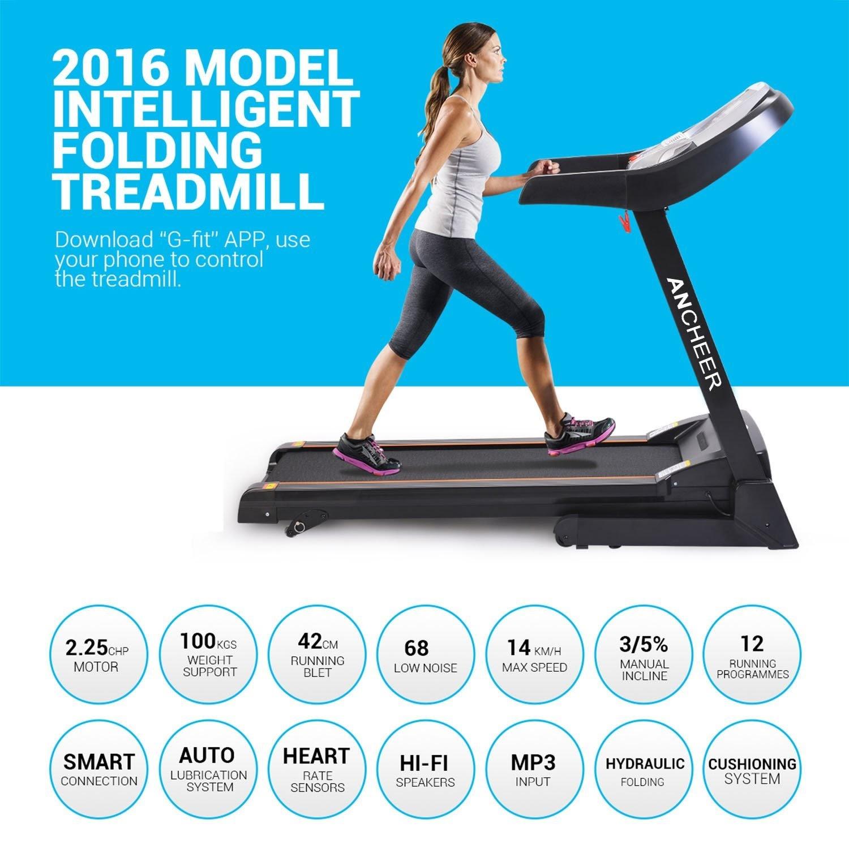 Slipping Treadmill Belt Help: Health And Fitness Den: Ancheer Folding Electric Treadmill