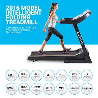 Ancheer Folding Electric Treadmill, image, review features & specifications