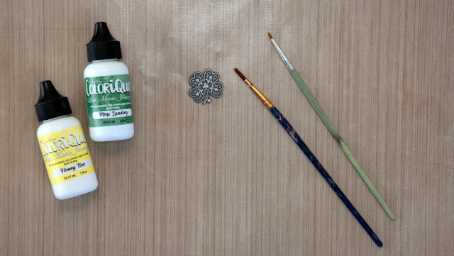 How to Paint A Metal Shamrock with ColorBox ColoriQue