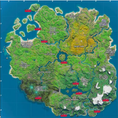 Boat Locations, Fortnite, Chapter 2, Season 1
