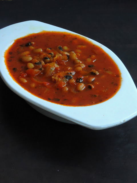 Black eyed peas tomato stew