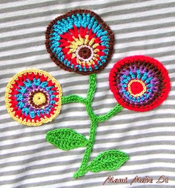Non-concentric Flowers - Unkonzentrische Häkelblumen