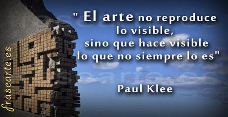 Frases de arte - Paul Klee