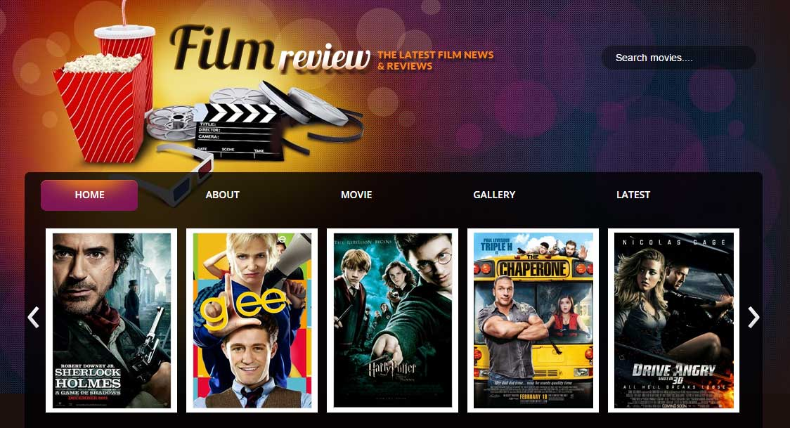 Film Reviews Responsive Blogger Template