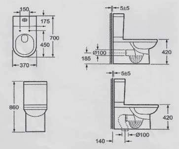 Modecor Toilet Suites: Roma Oxford Back to Wall Toilet Suite