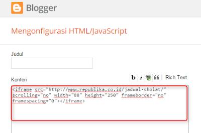 cara memasang widget jadwal sholat di blogger.com (1)