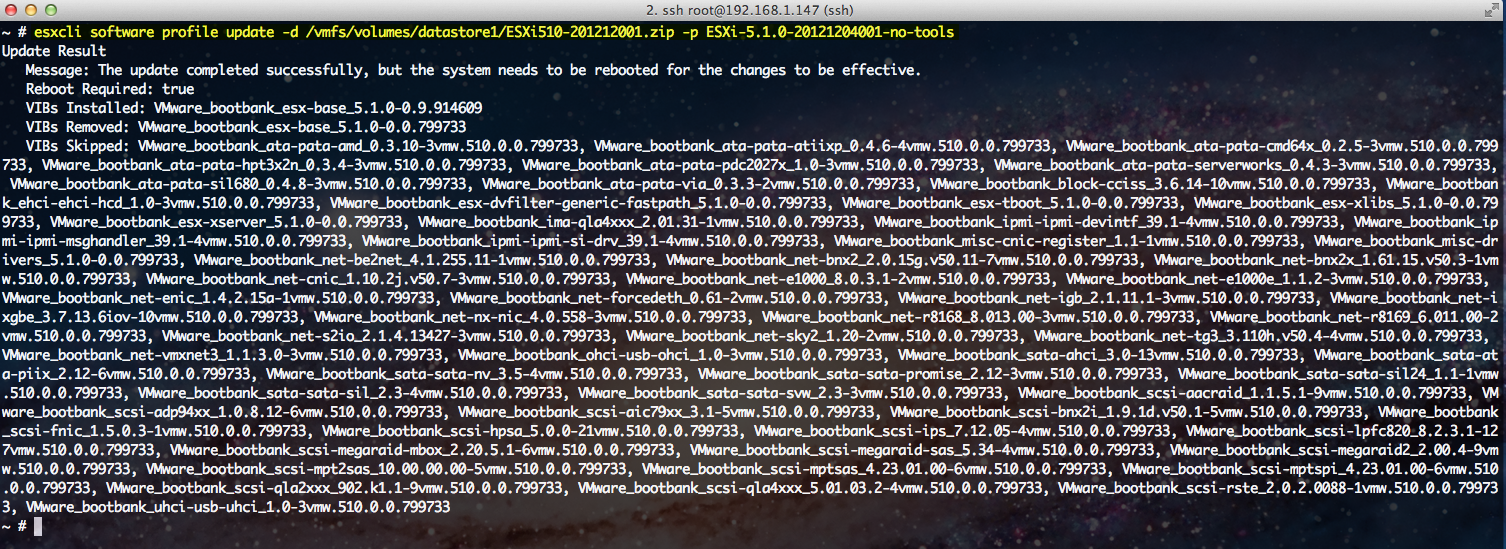 Quick Tip – Listing Image Profiles From an ESXi Patch Using ESXCLI