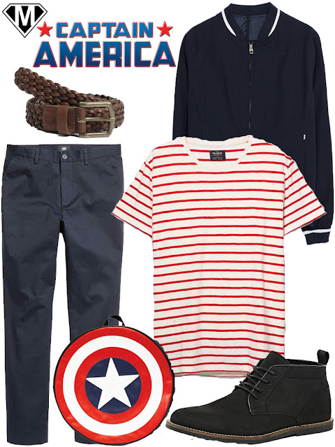 captain america daily outfit
