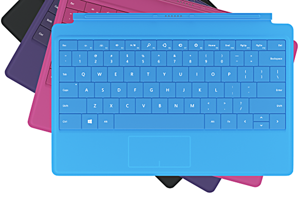 surface pro 2 type cover blue pink purple black colors price