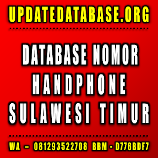 Jual Database Nomor Handphone Jawa Timur