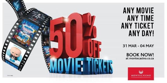 Half Price #Movie Tickets @MontecasinoZA @TsogoSun
