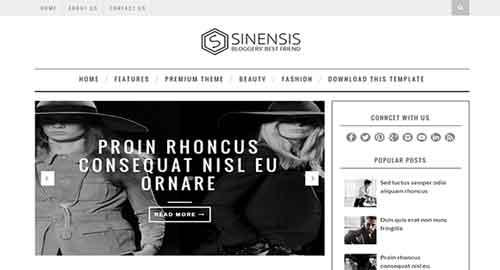 Sinensis Blogger Template