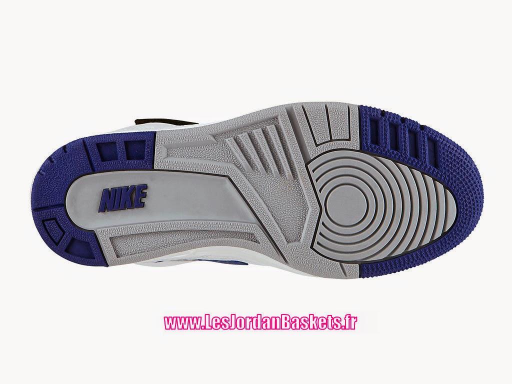 online retailer a213f 35dd6 Nike Air Revolution Sky Hi GS 2015 Chaussures Montante Nike Pas Cher Pour  Femme Blanc Bleu-Noir 599410-104