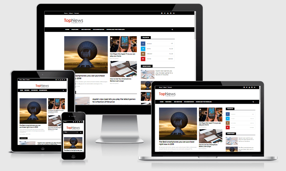 Top News - Responsive News & Magazine Blogger Template