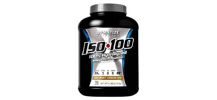 Proteína sin carbohidratos Iso 100 de Dymatize