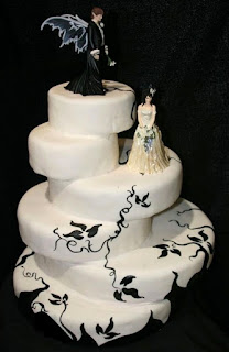 Spooky Halloween Themed Wedding Cake