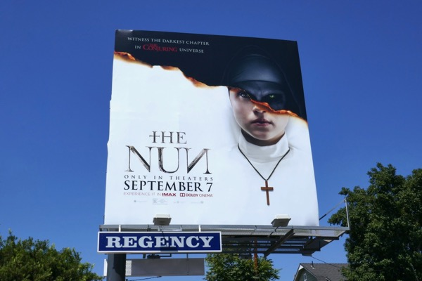 The Nun movie billboard