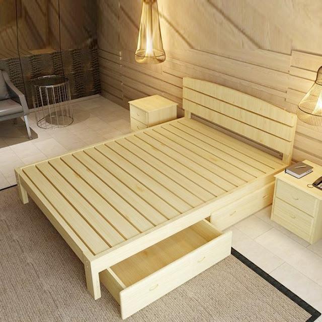 Bề mặt cao cấp của giường ngủ công nghiệp