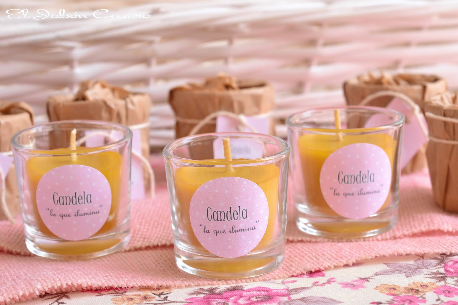 El jab n casero bautizos detalles naturales para - Etiquetas para velas ...