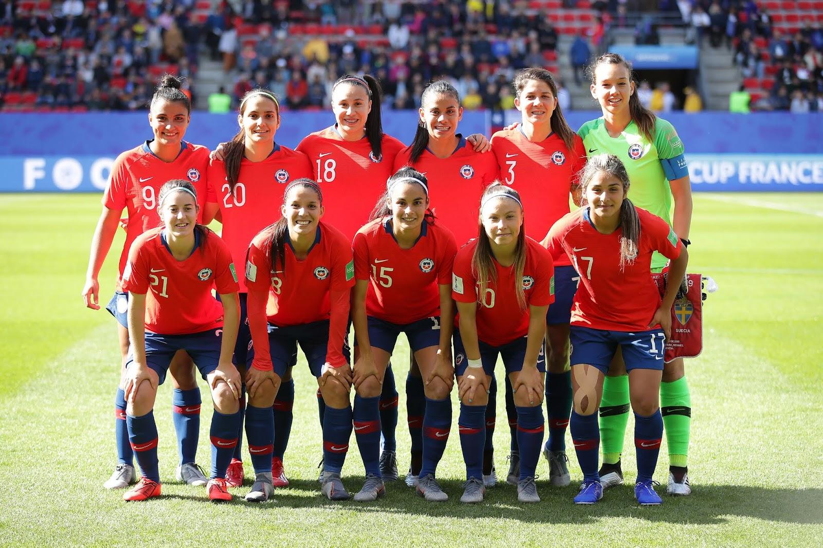 Formación de selección de Chile ante Suecia, Copa Mundial Femenina de Fútbol Francia 2019, 11 de junio