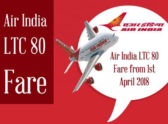Air India LTC 80 Fare