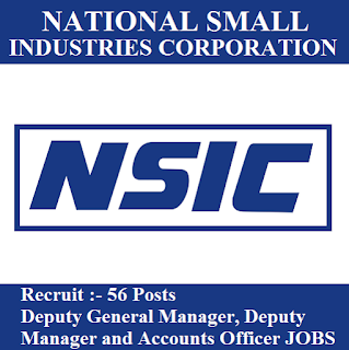 National Small Industries Corporation Limited, NSIC, Deputy General Manager, Deputy Manager, Account Officer, Graduation, freejobalert, Sarkari Naukri, Latest Jobs, nsic logo