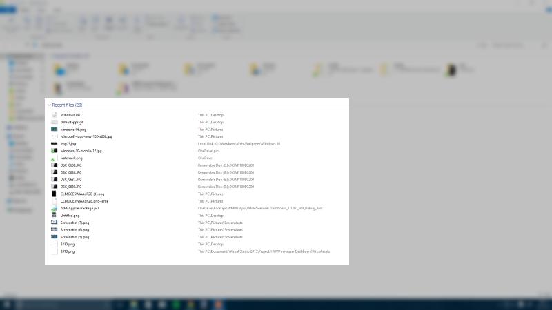 Hướng dẫn loại bỏ Recent Files từ File Explorer trên Windows 10