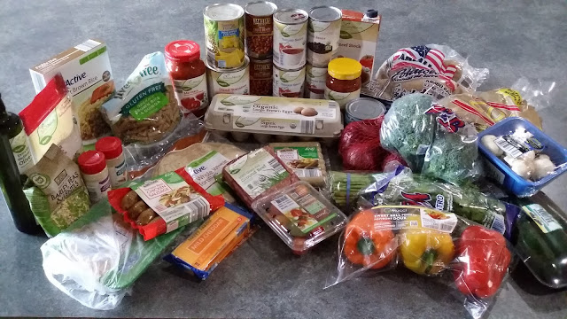 Grocery items on shopping list for 7 Healthy Budget Entrees on Meal Plan