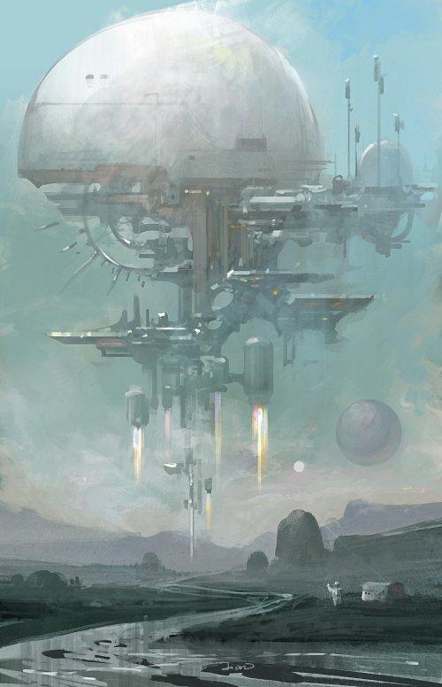 Su Jian artstation arte ilustrações ficção científica fantasia sombria