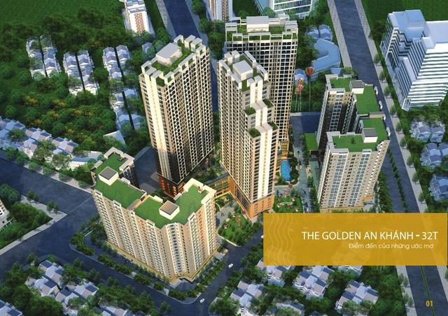 Phối cảnh dự án The Golden An Khánh