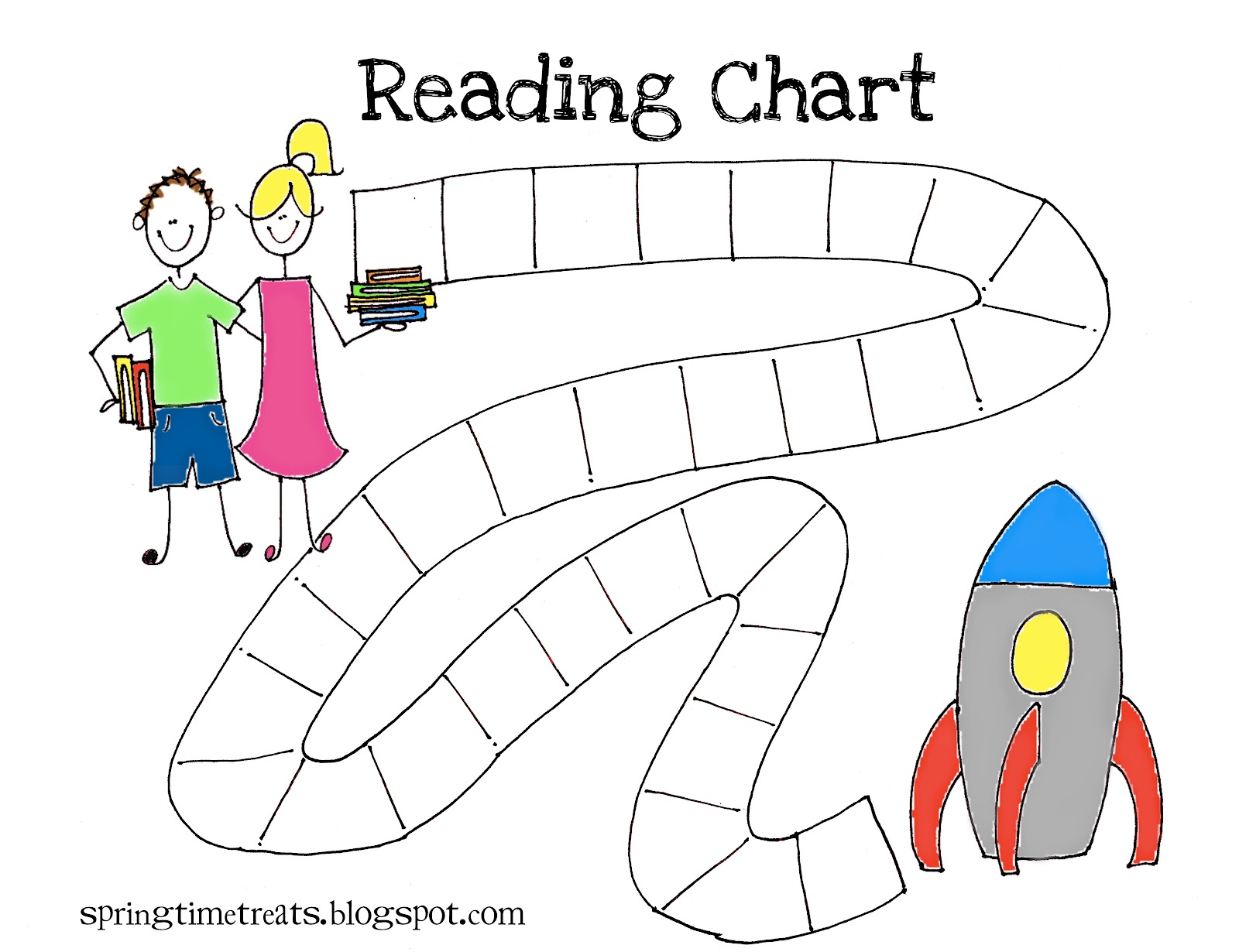 Spring Time Treats Reading Chart
