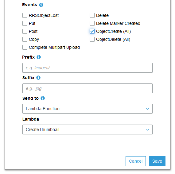 Creating a Thumbnail using AWS Lambda (Serverless