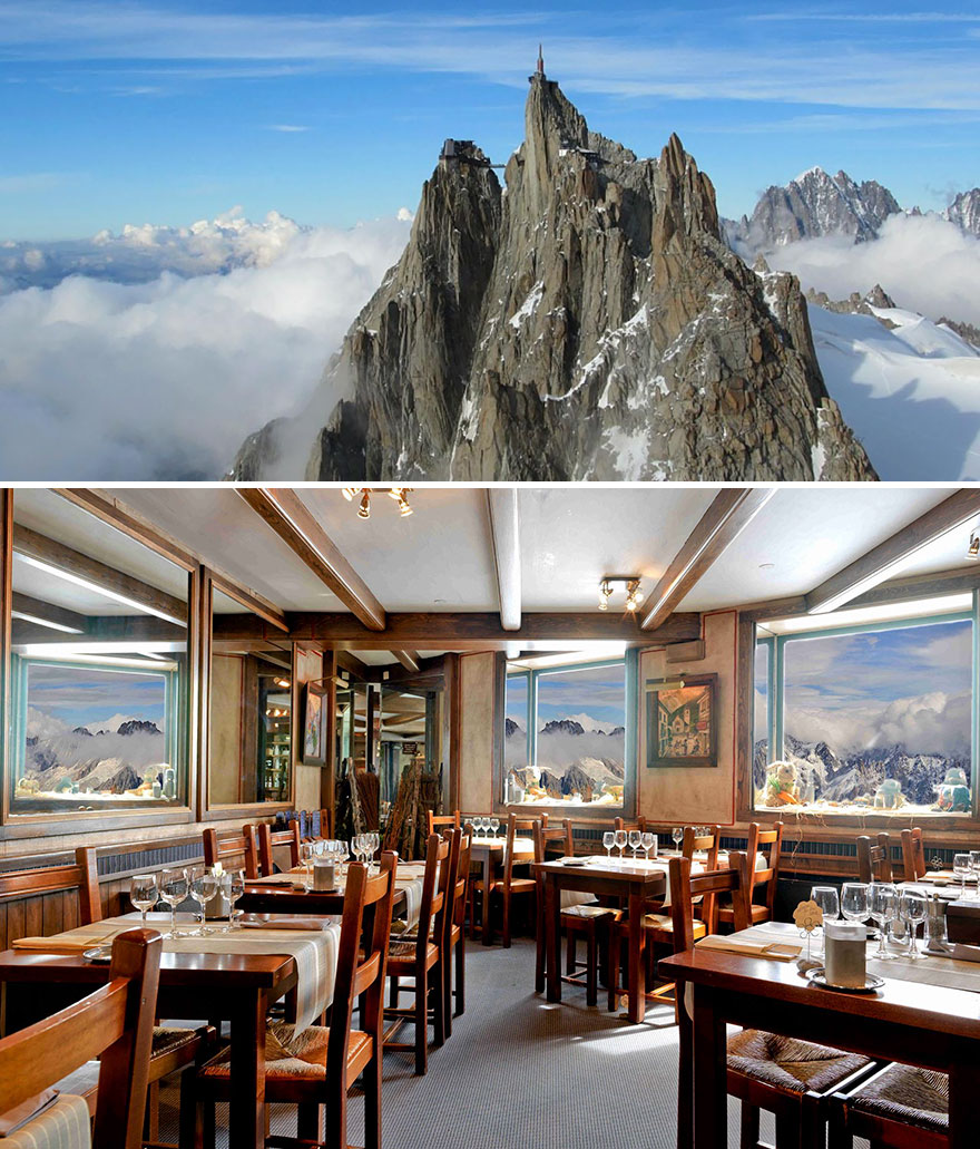 35 Of The World's Most Amazing Restaurants To Eat In Before You Die - Dine Surrounded By Stunning Mountain Setting, Aiguille Du Midi Restaurant 3842m, Chamonix, France